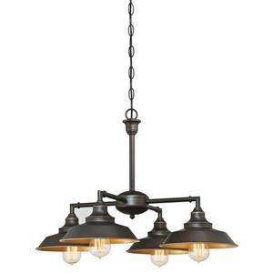 Luminaire suspendu d'intérieur Iron Hill, 4 lumières, Bronze
