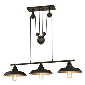 Westinghouse Lighting Canada Iron Hill 40-in Bronze 3-Light Island Pendant With Pully