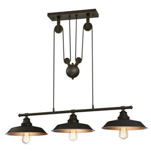 Luminaire d'intérieur suspendu à Poulie Iron Hill, Bronze