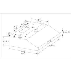 Hotte sous-armoire Maxair, 700 pcm, acier inoxydable, 30''