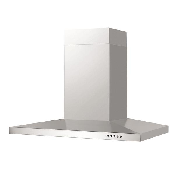 Maxair 30-in Ducted Wall-Mouned Chimney Wall Hood