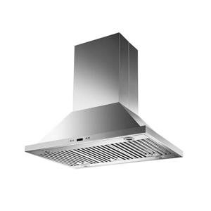 Maxair 36-in Round Vent Canopy Chimney Style Island Range Hood