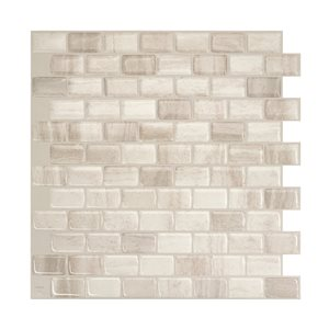 Smart Tiles Ravenna Farro Beige Wall Tiles (4-Pack)