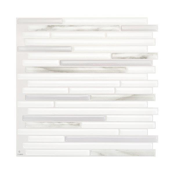 Smart Tiles Capri Addario 10-in x 10-in Gray Wall Tiles (4-Pack)