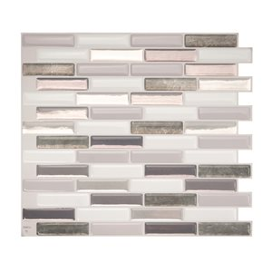 Smart Tiles Milenza Bigio 10-in x 10-in Self-Adhesive Mosaic Wall Tile