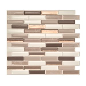 Smart Tiles Milenza Andrea 10-in x 10-in Self-Adhesive Mosaic Wall Tile
