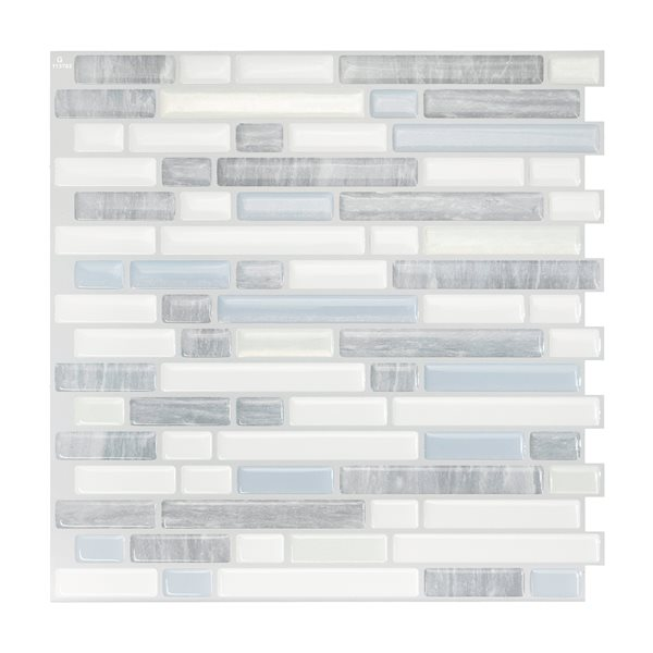 Smart Tiles Ballagio Costa Blue Stick Self-Adhesive Mosaic Wall Tile