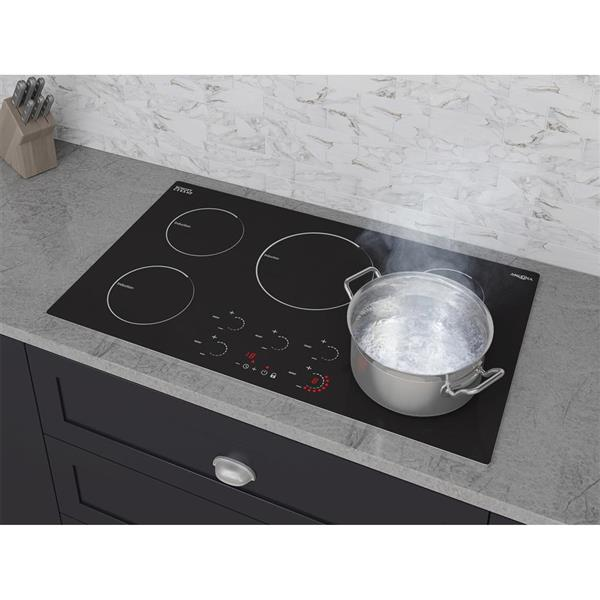"Surface de cuisson à induction Ancona Radiant, 36"", noir"