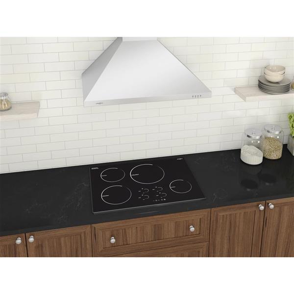 Ancona Radiant 30-in 4-Burner Black Induction Cook Top