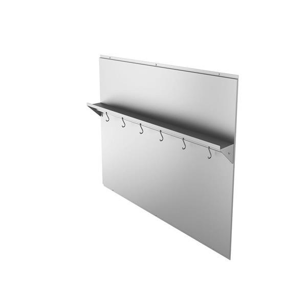 Ancona Stainless Steel 36-in Backsplash with Shelf