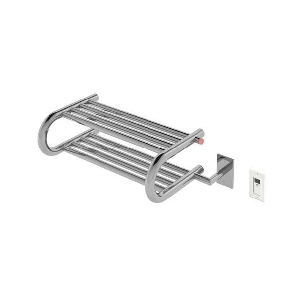 Ancona Essentia Stainless Steel 8-Bar Shelf Towel Warmer with Timer