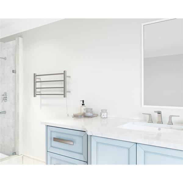 Ancona Gala Stainless Steel 4-Bar Dual Towel Warmer