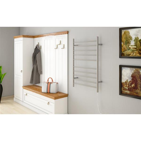 Ancona Comfort Stainless Steel 10-Bar Dual Towel Warmer and Drying Rack