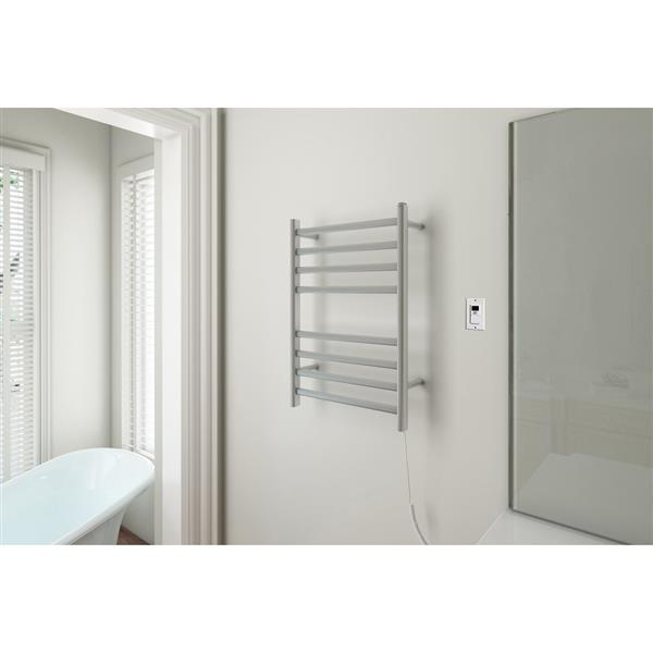 Ancona Prima Stainless Steel 8-Bar Dual Extended Towel Warmer with Timer
