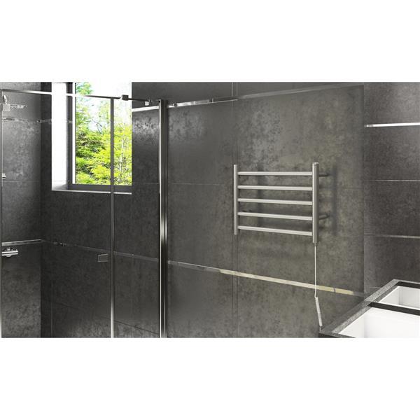 Ancona Prima Stainless Steel 5-Bar Dual Towel Warmer
