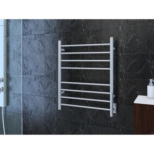 Ancona Prestige Polished Stainless Steel 8-Bar Dual Towel Warmer