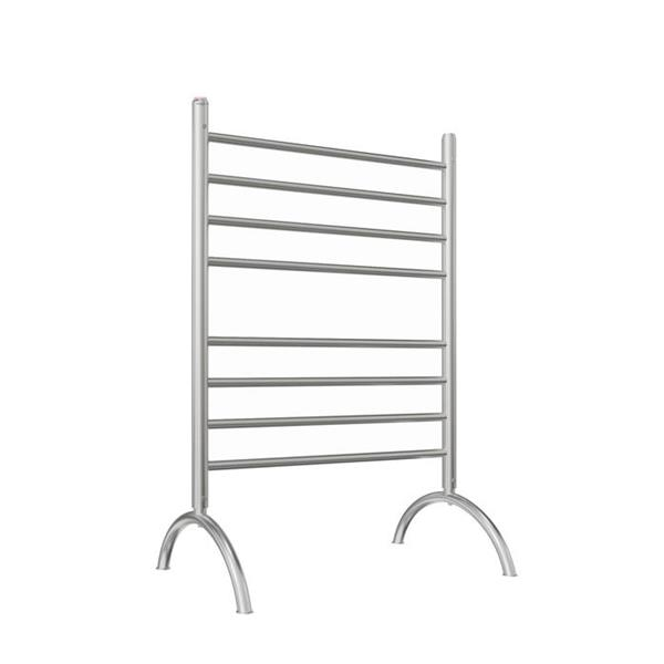 Ancona Essentia Brushed Stainless Steel 8-Bar Freestanding Towel Warmer