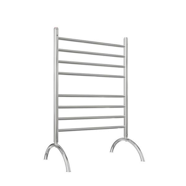 Ancona Essentia Polished Stainless Steel 8-Bar Freestanding Towel Warmer