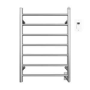 Ancona Comfort Chrome 7-Bar Towel Warmer and Drying Rack with Timer