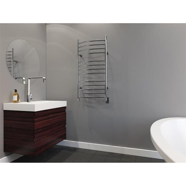 Ancona Svelte Polished Stainless Steel 13-Bar Rounded Towel Warmer and Drying Rack