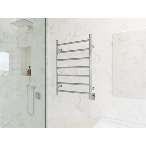 Ancona Comfort Chrome 7-Bar Towel Warmer and Drying Rack