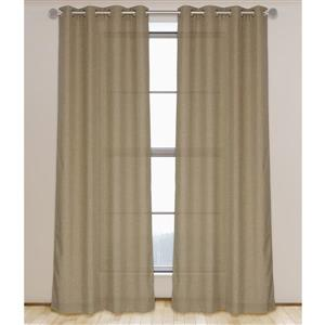 LJ Home Fashions Gold Linen Like Grommet Curtain Set
