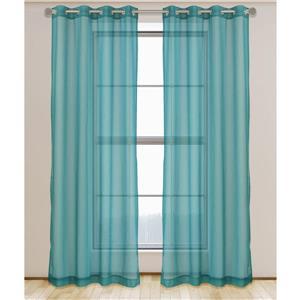 Aura ensemble de 2 rideaux voilage à œillets. 54'' x 95''