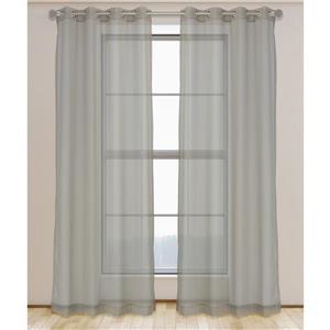 Aura ensemble de 2 rideaux voilage à œillets, 54'' x 95''