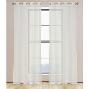 Aura ensemble de 2 rideaux voilage à œillets 54'' x 95''