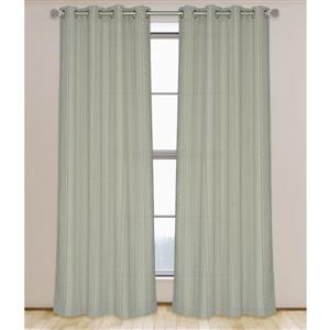 LJ Home Fashions Beige Shag Stripe Privacy Grommet Panels