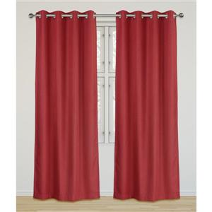 LJ Home Fashions Red Room Darkening Privacy Grommet Panels