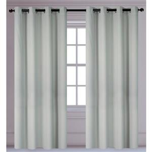 LJ Home Fashions Silver Light Reducing Privacy Grommet Curtains