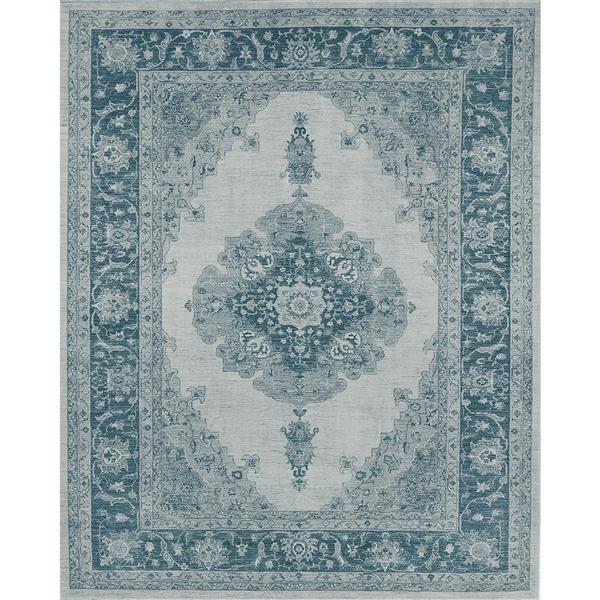 Tapis Ruggable Parisa Intérieur/Extérieur, Bleu, 8'x10'