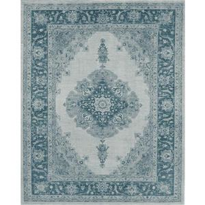 Ruggable Parisa 8-ft x 10-ft Blue Indoor/Outdoor Area Rug