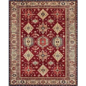 Ruggable Noor 8-ft x 10-ft Ruby Indoor/Outdoor Area Rug