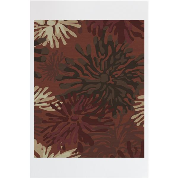 Ruggable Mum 8-ft x 10-ft Floral Red Indoor/Outdoor Area Rug
