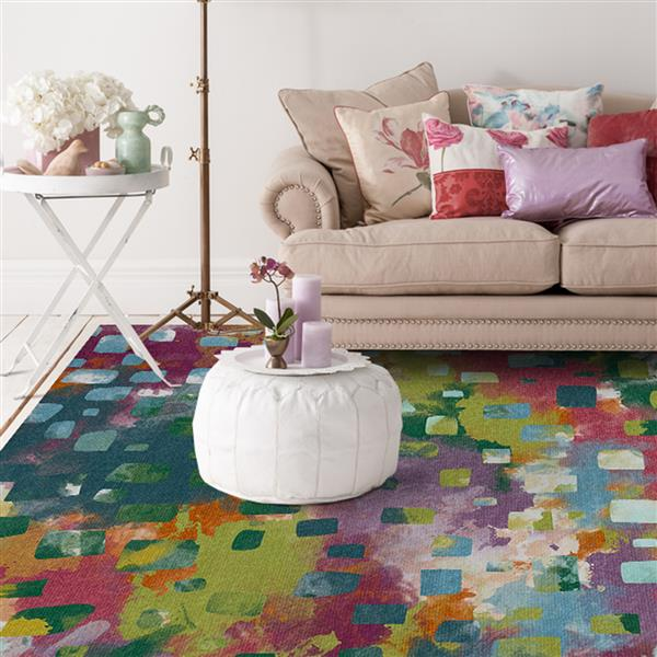 Ruggable Watercolor 5-ft  x 7-ft  Indoor/Outdoor Area Rug