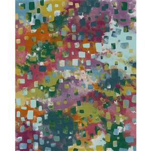 Tapis aquarelle, multicouleur, 5'x7'