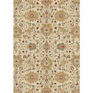 Ruggable 5' x 7' Traditional Floral Cream Indoor/Outdoor Area Rug