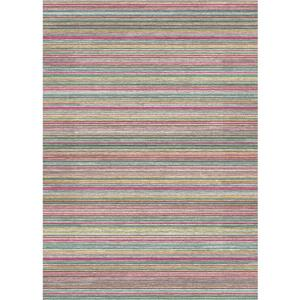 Ruggable 5' x 7' Multicoloured Striped Indoor/Outdoor Area Rug