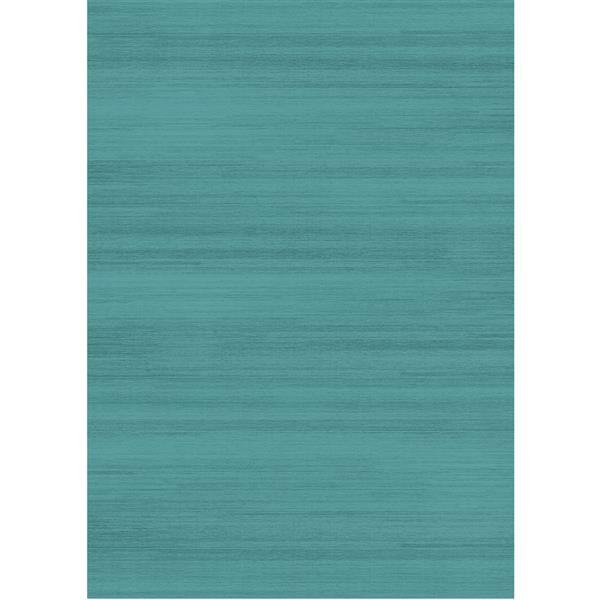 Ruggable Solid Textured Area Rug - Ocean Blue