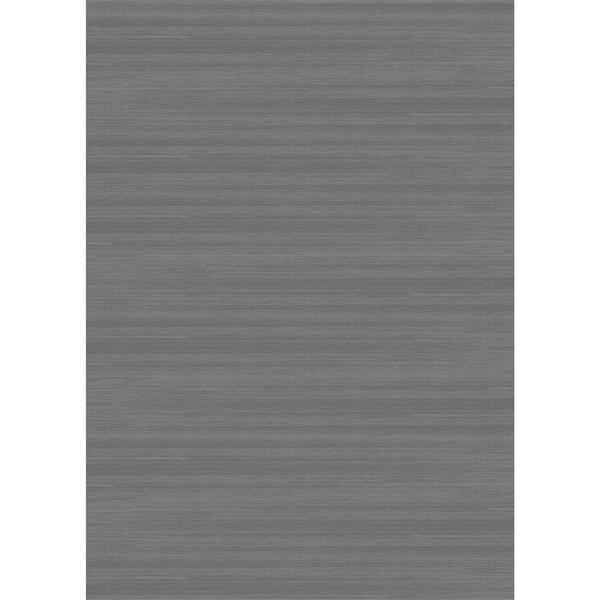 Ruggable Soild Textured 5-ft x 7-ft Grey Area Rug