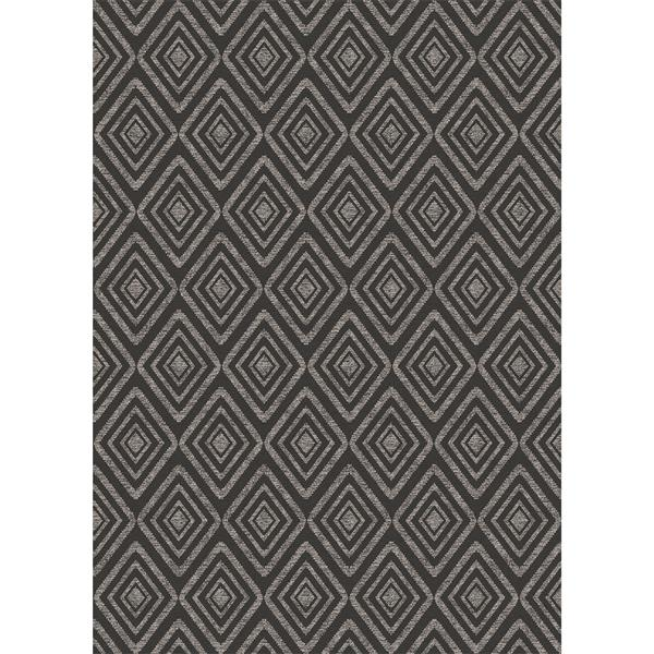 Ruggable Prism 5-ft x 7-ft Black Indoor/Outdoor Area Rug