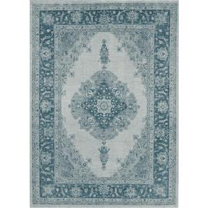 Ruggable Parisa 5-ft x 7-ft Blue Indoor/Outdoor Area Rug