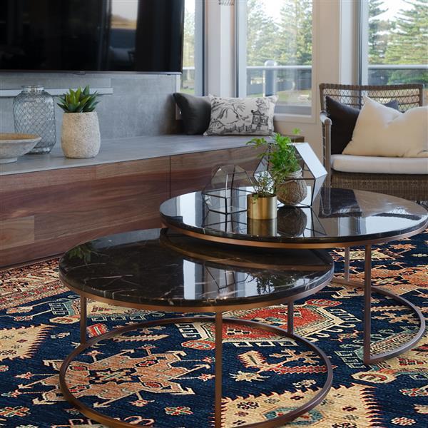 Ruggable Noor 5-ft x 7-ft Sapphire Indoor/Outdoor Area Rug
