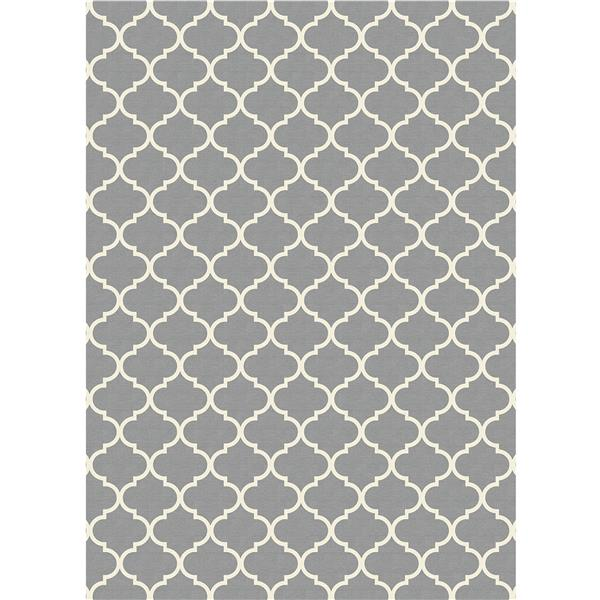 Ruggable 5-ft x 7-ft Moroccan Trellis Light Grey Area Rug