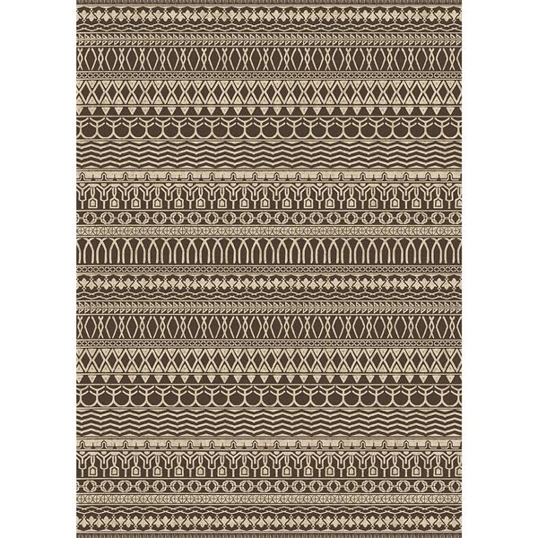 Ruggable Cadiz 5-ft x 7-ft Espresso Indoor/Outdoor Area Rug