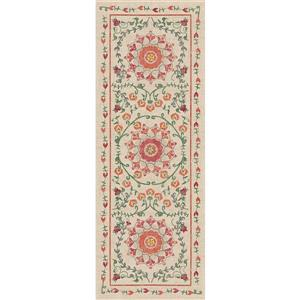 Ruggable Suzi 2-ft 6-in x 7-ft Coral Indoor/Outdoor Area Rug Runner