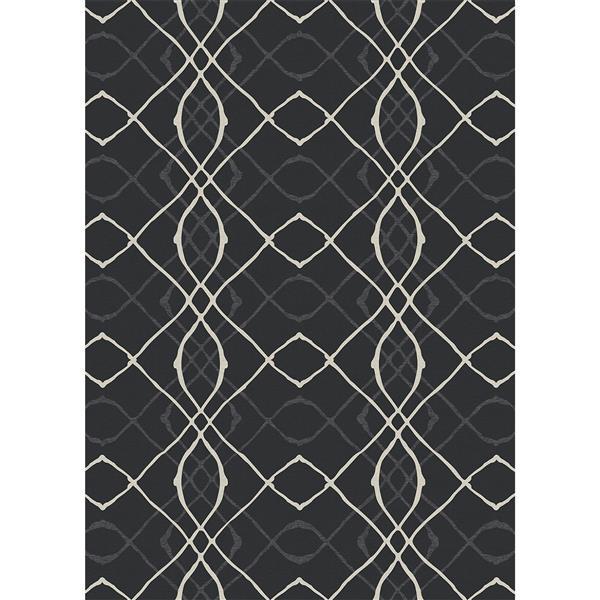 Tapis Ruggable Amara noir, Intérieur/Extérieur, 5'x7'