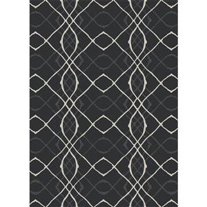Ruggable Amara 5-ft x 7-ft Black Indoor/Outdoor Area Rug